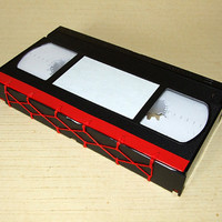 Upcycled VHS-tape Notebook Red