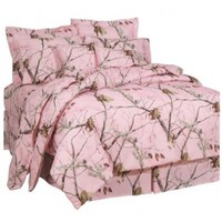 Realtree AP Pink Comforter Set, Full:Amazon:Home & Kitchen