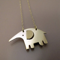 Elephant necklace / collier ?lphant by hirnundherz on Etsy