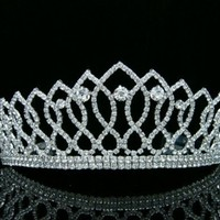 Pageant Queen Rhinestones Crystal Bridal Wedding Prom Tiara Crown:Amazon:Beauty