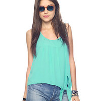 Pleated Tie Top | FOREVER21 - 2000041149