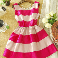 A 072903 bb Sexy sweet striped dress