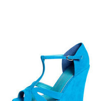 Lili Suedette Strappy T Bar Wedges at boohoo.com