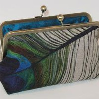 Eye Of The Peacock Linen Clutch by mermaidsdream on Etsy
