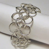 Big and Bold Chain Link Bracelet Sterling Silver | LaraJordanJewelry - Jewelry on ArtFire