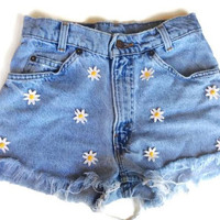 Daisy High Waisted Jean Shorts
