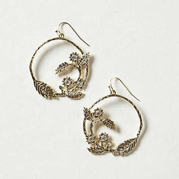 Anthropologie - Floral Vine Hoops