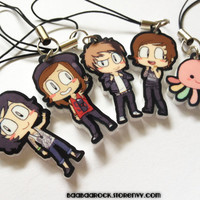 Kellin, Vic, Alex, & Austin charms set of 5