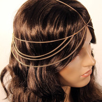 New Head Chain Bridal Wedding Jewelry Hair Accessories Rope  Silver Free Shipping HC-006
