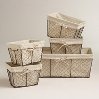 Charlotte Lined Wire Baskets | World Market