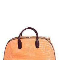 Carrie Croc Effect Large Luggage Trolley