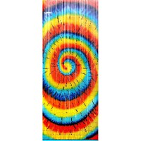 Amazon.com: Tye Dye Spiral ~ Hand Painted ~ Gateways 100% Bamboo Beaded Door Curtains ~ Approx 90 Strands: Home &amp; Kitchen
