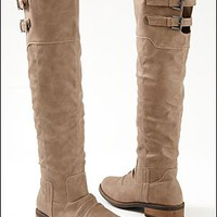 Women's Buckle knee high boot