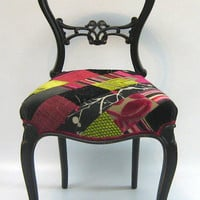 Patchwork balloon back chair by SomethingOrOtherUk on Etsy