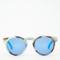 Illesteva / Mirrored Leonard in Horn/Blue