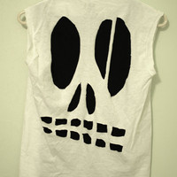 Skull CutOut Tee by NativeLivingJewelry on Etsy
