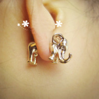 BOGO-Fashion 3D Elephant Ear Stud (Single)  | LilyFair Jewelry