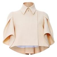 Pleated Sleeve Jacket by DELPOZO