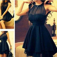 Mesh front Cute Slim Dress for Women 02