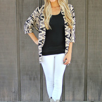 Tribal Night Sky Cardi - Grey