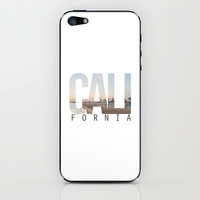 CALI FORNIA (White) iPhone & iPod Skin by Thecrazythewzrd