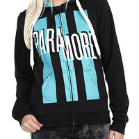 Paramore Teal Bars Zip Girls Hoodie | Hot Topic