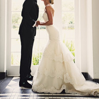 Strapless Lace Wedding Dress CUSTOM