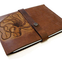 Handmade iPad Leather Sleeve Octopus by joevleather on Etsy