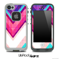 Pink & Blue Vintage V2 Chevron Skin for the iPhone 5 or 4/4s LifeProof Case - iPhone