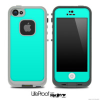 Solid Trendy Green Skin for the iPhone 5 or 4/4s LifeProof Case