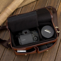 Leather DSLR Nikon Canon Camera Bag Insert