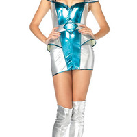 Galaxy Girl Costume, Astronaut Costume, Metallic Space Costume