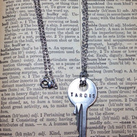 Steampunk Doctor Who Inspired TARDIS Key Necklace by morbidxtasy
