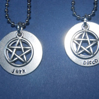 Supernatural Aluminum  BFF Necklace Set by TeamNeville on Etsy