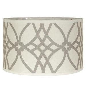 Trellis Linen Drum Lampshade - Shades of Light