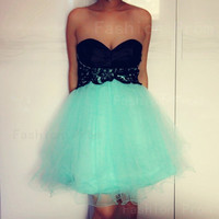 Fashion Lace Ball Gown Sweetheart Mini Prom Dress/Homecoming Dress