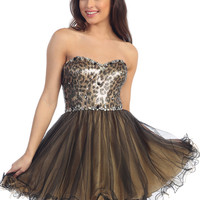 Sequin Party Dresses, Homecoming Dress, Animal Print Cocktail Dress from Sung Boutique Los Angeles, Category New Arrivals