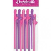 Bachelorette Party Favors Dicky Sipping Straws - Asst. Colors Pack of 10:Amazon:Health & Personal Care