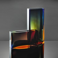 Traam Vase - Dynamic Cuts Reveal Layers of Color in Sensual Object
