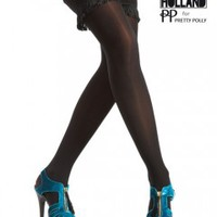 Henry Holland Opaque Fringe Hold Ups - Tights, Stockings, Shapewear and more  -  MyTights.com - The Online Hosiery Store