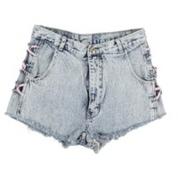 Rokit Recycled Stonewash Denim Cut Off Hotpants W31 | Rokit Recycled | Rokit Vintage Clothing