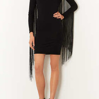 Fringe Bodycon Dress - Dresses  - Clothing
