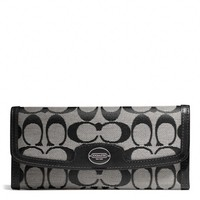 Coach :: Legacy Soft Wallet In Signature Fabric