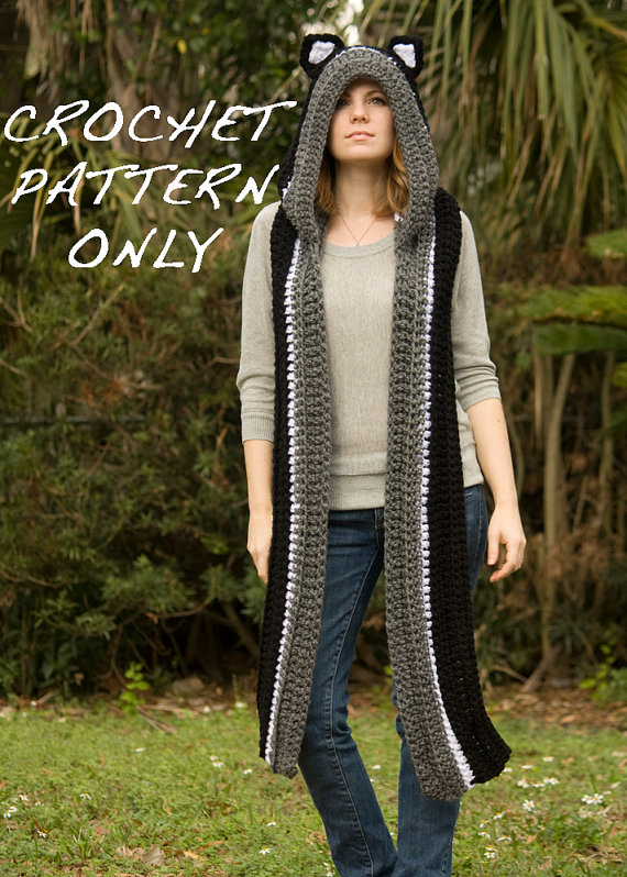 Free Crochet Pattern For Hooded Scarf With Ears Pakbit For