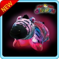 "Pillow Pets Glow Pets - Zebra 12"":Amazon:Toys & Games"