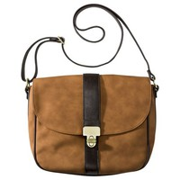 Large Solid Crossbody Handbag - Brown