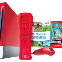 Wii Hardware Bundle - Red:Amazon:Video Games