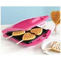 Babycakes Heart Shaped Waffle Machine - Waffle on a Stick Maker WM-42HS