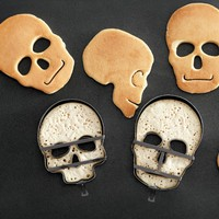 Halloween Skull Pancake Molds, Set of 3