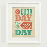 It's a Good Day Art Print // 8x10 by wickedpaper on Etsy